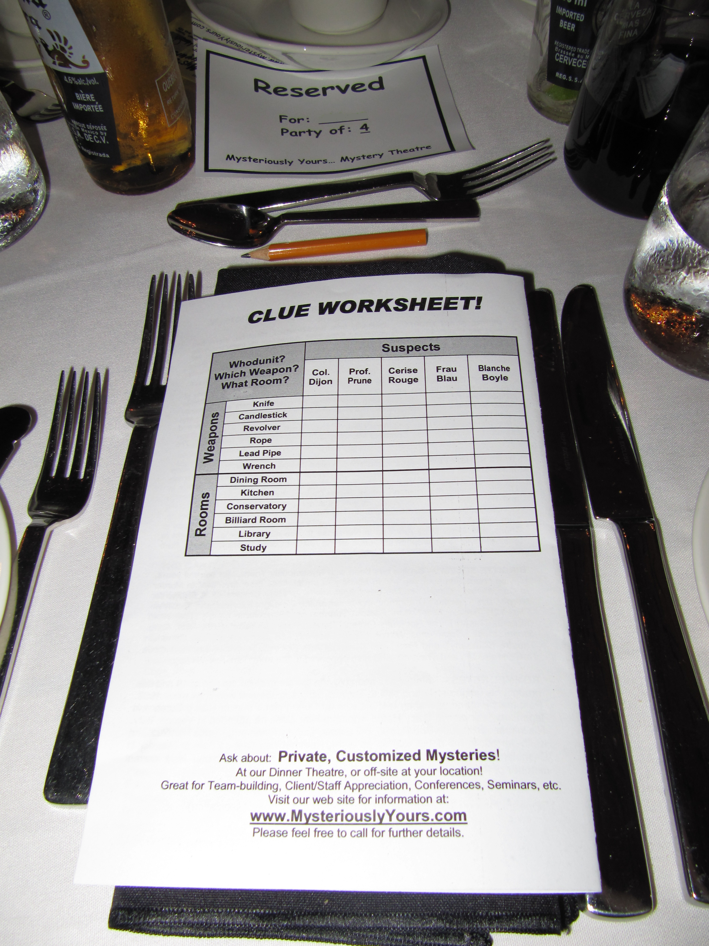 Murder Mystery Dinner At Casa Loma