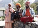 Indische Sadhus in Muktinath (ein heiliger Ort fuer Hindus und Buddhisten zugleich)