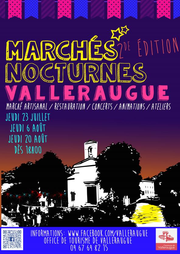 marché nocturne Valleraugue 2015