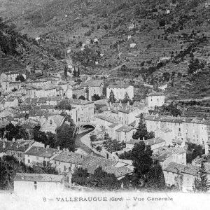 Vue générale de Valleraugue début du XX° siècle