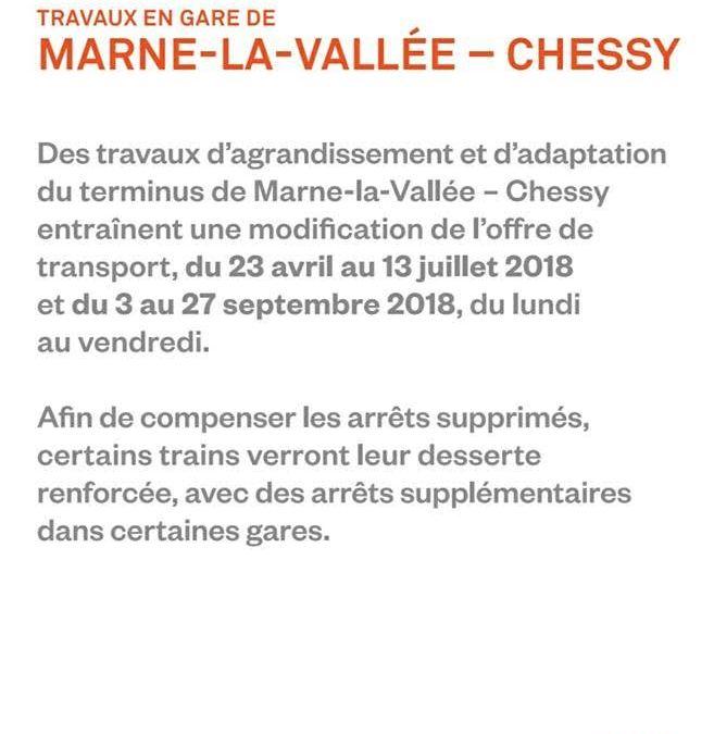Transport ► modification des horaires de la ligne du RER A