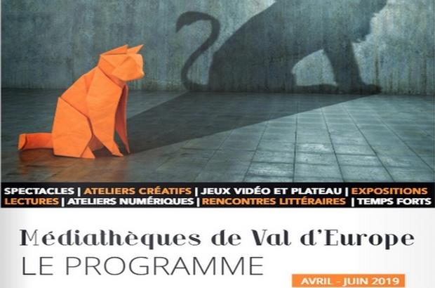 Val d'Europe ► Programme des médiathèques avril à juin 2019