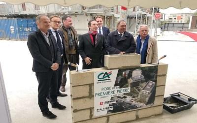 Chessy ►Pose la première Pierre du futur site du Crédit Agricole Brie Picardie