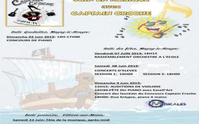Magny le Hongre ► Le programme des concerts en juin avec Captain Croche