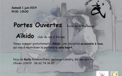 Bailly-Romainvilliers ► Portes ouvertes Aïkido au Dojo le 1 juin 2019