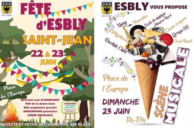 Esbly ► Fête de la Saint Jean et scène musicale les 22 et 23 juin place de l'Europe