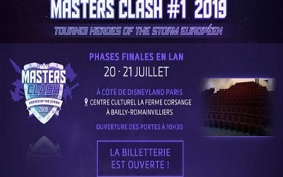 Bailly-Romainvilliers ► Tournoi Européen de e-game Master Clash les 20 et 21 juillet 2019