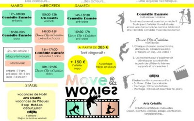 Magny le Hongre ► Moves & Movies, le planning de la saison 2019 – 2020
