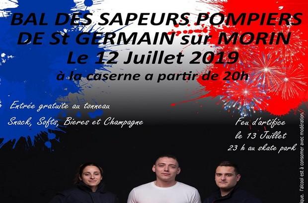 Saint Germain sur Morin ► Le bal des Sapeurs Pompiers revient le 12 juillet 2019