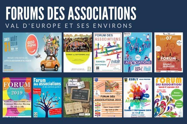 Les forums des associations au Val d'Europe et ses villes aux alentours
