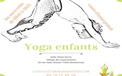 Ouverture d'un cours de yoga enfant au Village des Associations de Montévrain