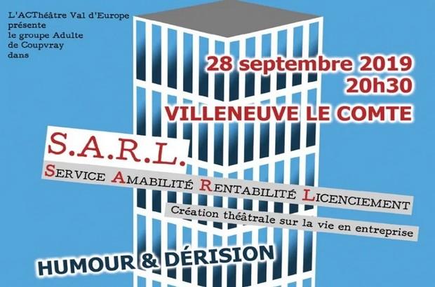 """Villeneuve-le-Comte ► spectacle """" S.A.R.L """" d'A.C' Théâtre Val d'Europe le 28 septembre"""