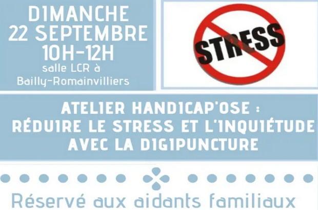 Bailly-Romainvilliers ► Atelier Handicap'ose – réduire le stress et l'inquiétude avec la digipuncture