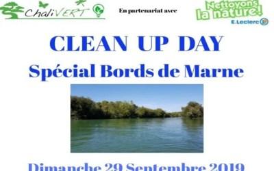 Chalivert organise Clean Up Day spécial Bord de Marne à Chalifert le 29 septembre