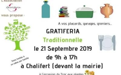 L'association Chaliféria  organise une Gratiféria le 21 septembre à Chalifert