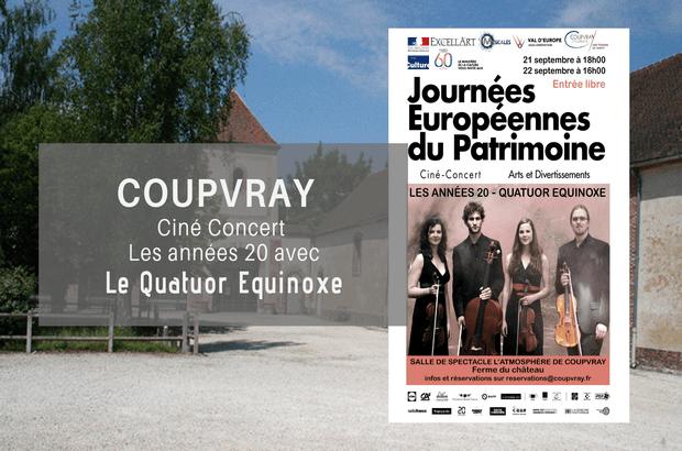 Coupvray ► Journées du Patrimoine ciné-concert Buster Keaton et le Quatuor Equinoxe