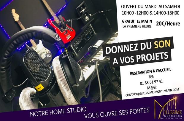 Montévrain ► Ouverture d'un Home Studio à la salle de spectacle le Millésime