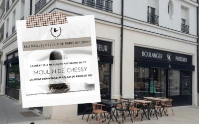 Le Moulin De Chessy élu Meilleur éclair au chocolat d'île de France et Meilleur Pâtisserie de Seine et Marne