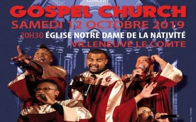 Villeneuve-le-Comte ►Les Gospel Church à l'Eglise Notre Dame de la Nativité