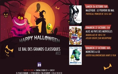 Un Week-end  spécial Halloween et pour toute la famille au Studio 31!
