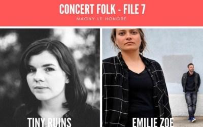 Soirée Filles 7 Concert folk avec Tiny  Ruins & Emilie  Zoé le 25 octobre au File 7