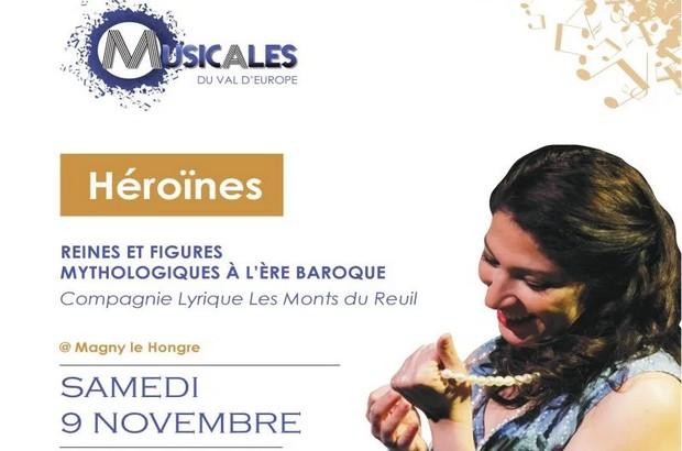 Concert Héroïnes Reines et figures mythologiques en l'Eglise Sainte-Geneviève le 9 novembre