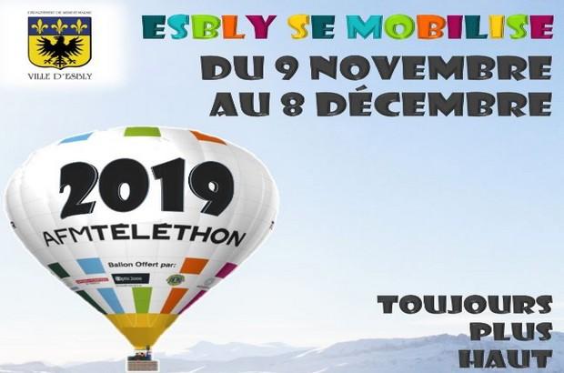 La ville d'Esbly se mobilise pour le Téléthon, du 9 novembre au 8 décembre 2019