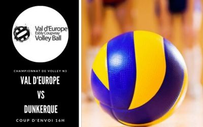 Val D'europe Volley-ball rencontre Dunkerque le 10 novembre à Coupvray