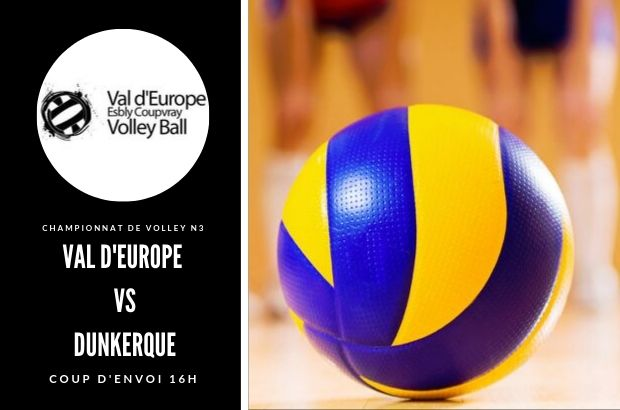 Val D'europe Volley-ball rencontre Dunkerque le 10 novembre à Coupvray