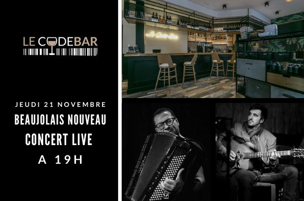 Le Code Bar de Magny Fête le Beaujolais Nouveau le 21 novembre en musique