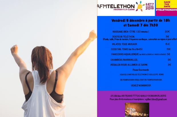 Nouvelle édition les 6 et 7 décembre du Téléthon du bien-être à Bailly-Romainvilliers
