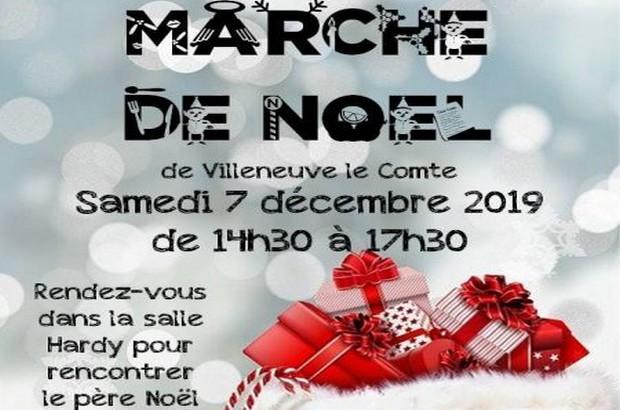 Un Marché de Noël est organisé salle Hardy à Villeneuve-le-Comte le 7 décembre 2019
