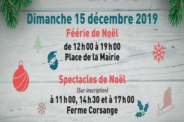 Les Fééries de Noël à Bailly-Romainvilliers Place de la mairie dimanche 15 décembre