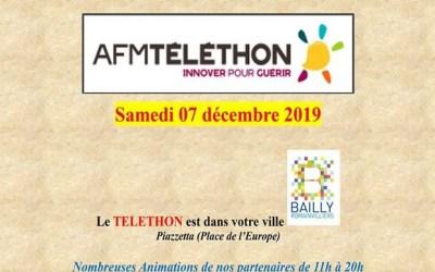 Une journée dédiée au Téléthon sur la Piazzetta de Bailly-Romainvilliers