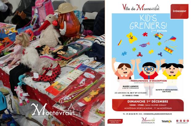 Kid's Greniers à Montévrain dimanche 1er décembre 2019 à la Salle Olivier Girault