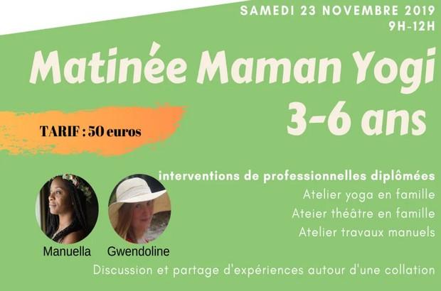 Maman Yogi matinée avec  ateliers yoga parent/enfant le  23 novembre à Montévrain