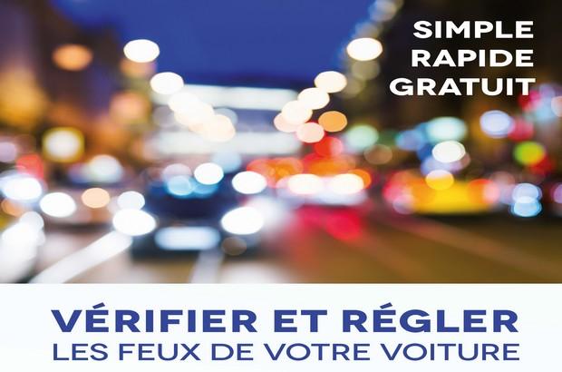 Faites vérifier vos phares gratuitement sur le parking du Val d'Europe le 6 novembre