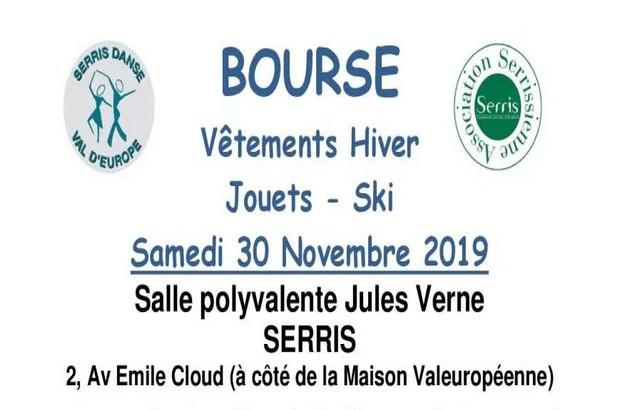 Bourse aux vêtements Hiver Jouets et ski à la Salle Jules Verne à Serris le 30 novembre