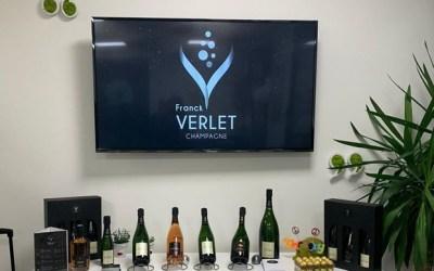 Lancement Champagne Franck Verlet habillé par l'agence Graphissime de Serris