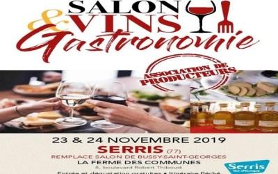Salon Vins et Gastronomie à la Ferme des Communes de Serris  les 23 et 24 novembre