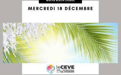 Le CEVE  organise une soirée Winter Beach Lounge le 18 décembre à Sea Life Paris