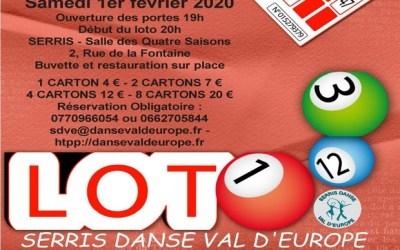Serris : Un loto est organisé samedi 1er février 2020 à la salle des 4 saisons