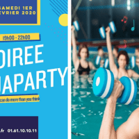 Aqua Party le 1er février 2020, au Centre Aquatique du Val d'Europe