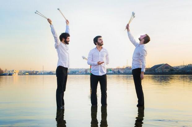 Concert «Alors, on danse ?» du Trio SR9 à trois marimbas à la Ferme de Corsange