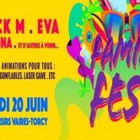 Family Fest, festival dédié aux familles, le 20 juin sur la base de loisirs de Vaires-Torcy.