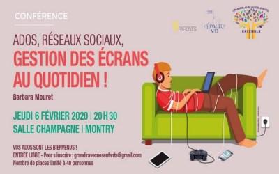 """Montry : Conférence """"Ados, gestion des écrans au quotidien !"""" à la Salle champagne"""
