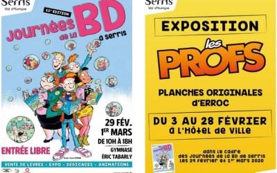 Serris : 11 ème édition des journées de la BD les 29 février et  1er mars 2020