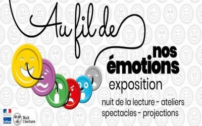 """Nuit de la lecture """"Au Fil de nos émotions """" organisée par les Médiathèques de Val d'Europe"""