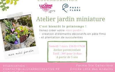 Venez réaliser avec votre enfant un joli jardin miniature le 7 mars 2020