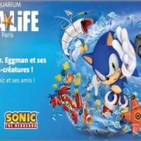 Sonic débarque à l'aquarium SEA LIFE PARIS Val d'Europe du 8 au 23 février!